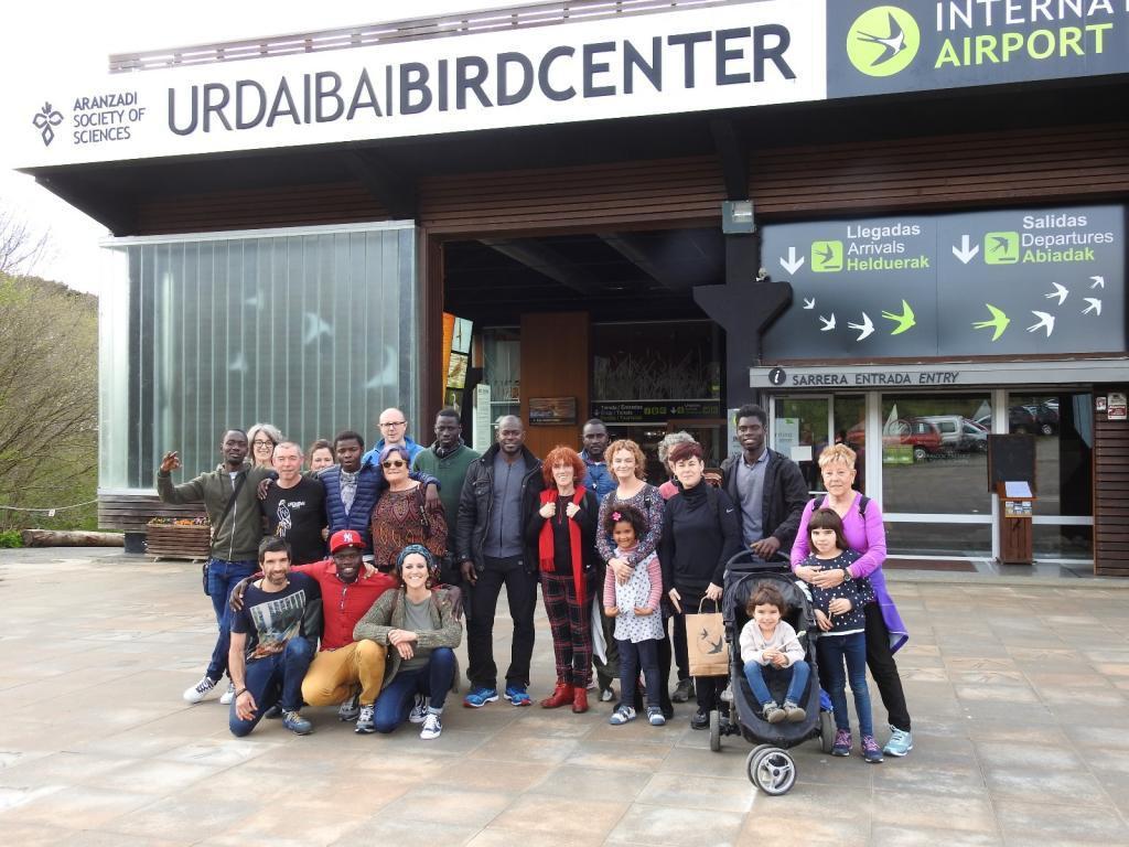 Urdaibai Bird Centerrera egindako bisita. Argazkia: Bird Center.