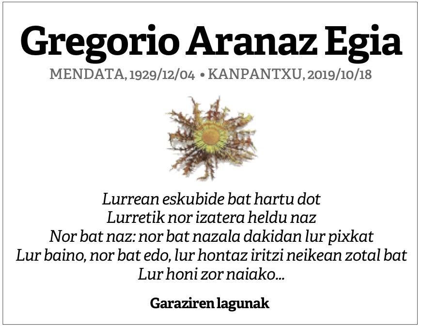 Gregorio Aranaz