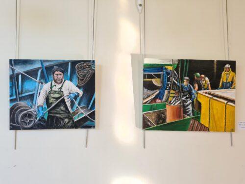 Barrueta Arte Elkarteko pintura ikastaroen erakusketa